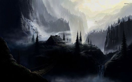 dark mountain wallpaper hd